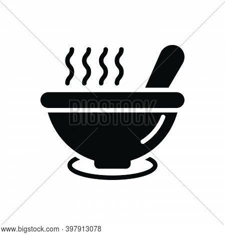 Black Solid Icon For Soup Porridge Tasty Mixture Combination Pour Bowl Product Blend Warm Snug Torri
