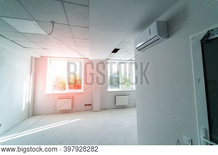 Interior Of Upgraded Apartment After Remodeling, Renovation, Extension, Restoration, Reconstruction