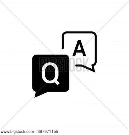 Faq Help Flat Design Icon. Query Frequently Question Speech Vector Information Symbol