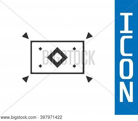 Grey Magic Carpet Icon Isolated On White Background. Vector