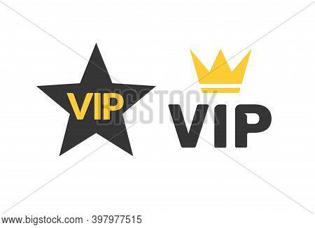 Vip Icon Flat Exclusive Important Membership Badge Crown. Vip Icon Member Club