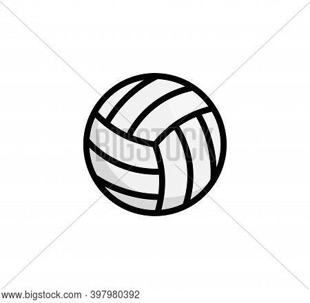 Volley Ball Logo Icon. Vollyeball Vector Simple Flat Icon