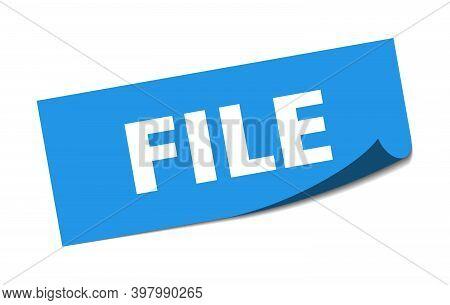 File Sticker. File Square Sign. File. Peeler