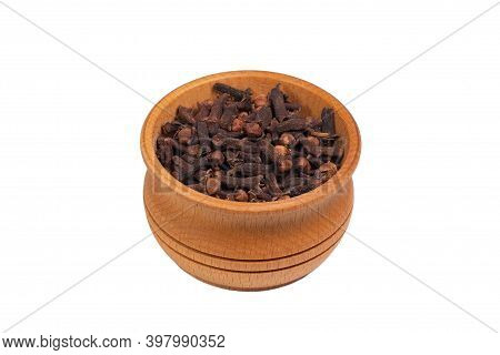 Cloves Is Isolated On A White Background