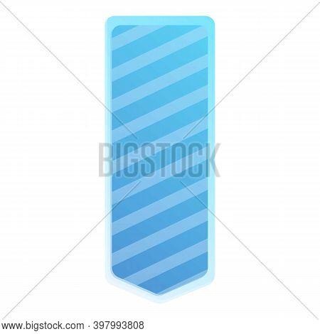 Stripe Bookmark Icon. Cartoon Of Stripe Bookmark Vector Icon For Web Design Isolated On White Backgr