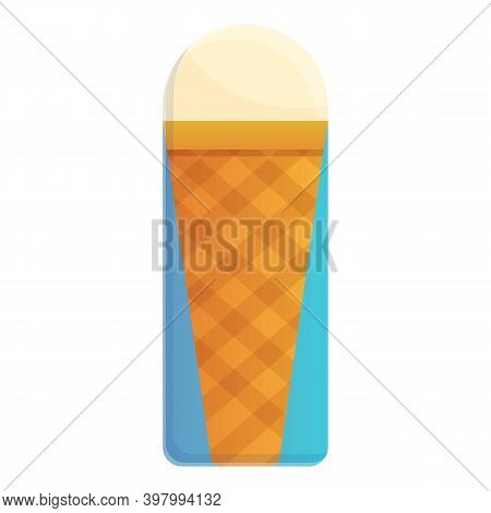 Ice Cream Tab Icon. Cartoon Of Ice Cream Tab Vector Icon For Web Design Isolated On White Background
