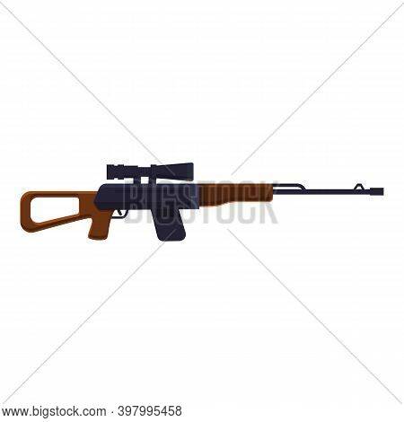 Scar Sniper Weapon Icon. Cartoon Of Scar Sniper Weapon Vector Icon For Web Design Isolated On White