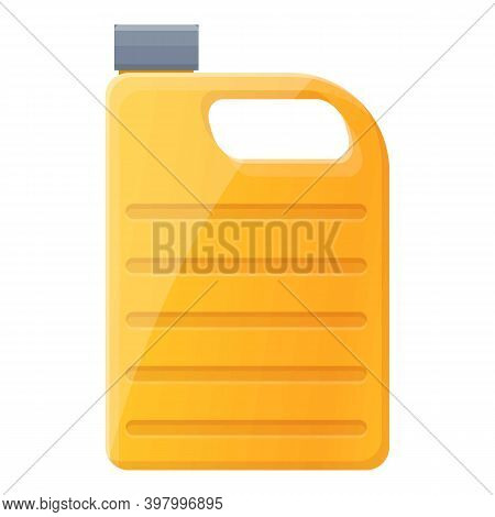 Canola Oil Canister Icon. Cartoon Of Canola Oil Canister Vector Icon For Web Design Isolated On Whit