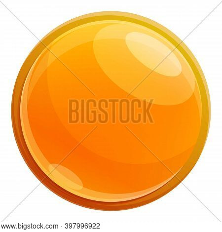 Canola Oil Pill Icon. Cartoon Of Canola Oil Pill Vector Icon For Web Design Isolated On White Backgr