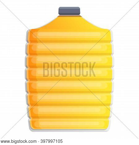 Canola Oil Big Bottle Icon. Cartoon Of Canola Oil Big Bottle Vector Icon For Web Design Isolated On