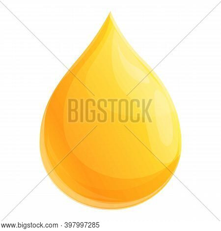 Canola Oil Drop Icon. Cartoon Of Canola Oil Drop Vector Icon For Web Design Isolated On White Backgr