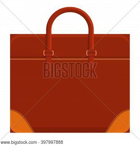 Portfolio Briefcase Icon. Cartoon Of Portfolio Briefcase Vector Icon For Web Design Isolated On Whit