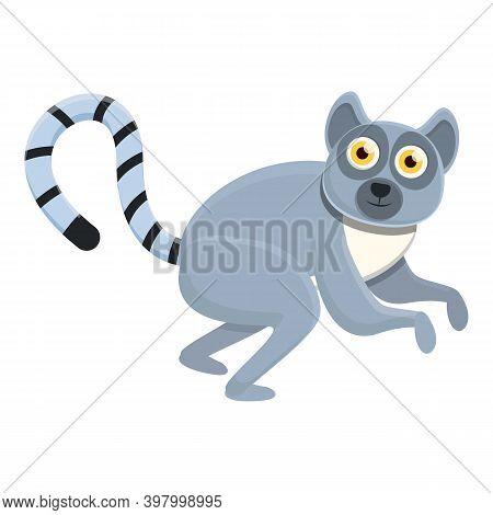 Lemur Monkey Icon. Cartoon Of Lemur Monkey Vector Icon For Web Design Isolated On White Background