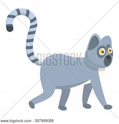 Lemur Madagascar Icon. Cartoon Of Lemur Madagascar Vector Icon For Web Design Isolated On White Back