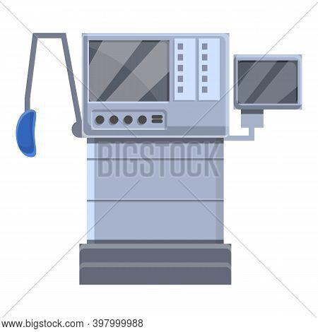 Breathing Ventilator Medical Machine Icon. Cartoon Of Breathing Ventilator Medical Machine Vector Ic