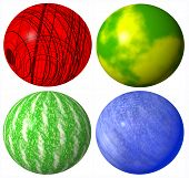 colored abstract globe spheres high quality rendered from 3d poster