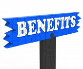 Benefits Showing Bonus Perks Compensation Award Or Rewards poster