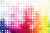 Colorful Party Disco Trendy Abstract Background With Glowing Dots poster