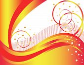 Waves and Curls are Featured in an Abstract Vector Illustration. poster