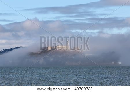 Alcatraz Island on a Foggy Day