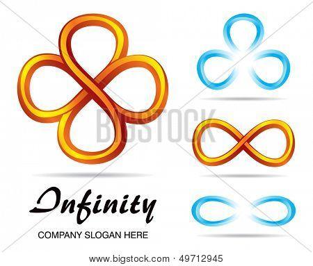 Set of design symbols of infinity