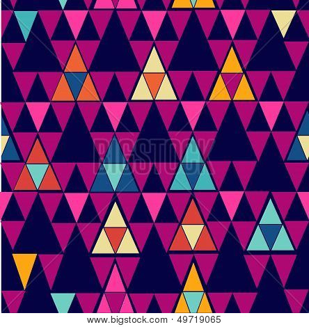 Unusual colorful retro hipsters triangle seamless pattern background. Vector file layered for easy editing. poster