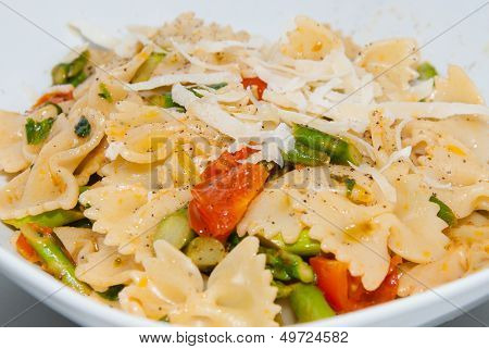 Dish of pasta salad