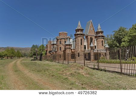The metal fence of Chateau de Nates, South Africa