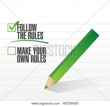 Follow The Rules Check Of Approval
