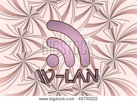 3D Graphic Of A 3D W-lan Icon  On Vintage Backgrond