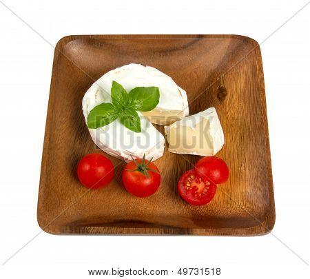 Camembert Cheese And Fresh Cherry Tomatoes
