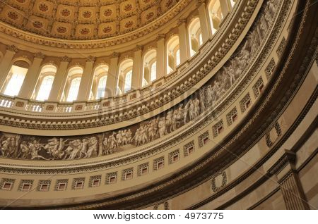 United States Capital Interior Dome In Washington, Dc
