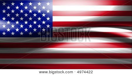 Dynamic representation of USA flag with motion effects poster