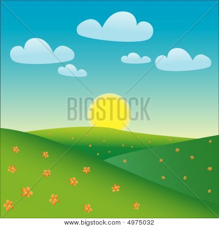 Cartoon Happy Landscape