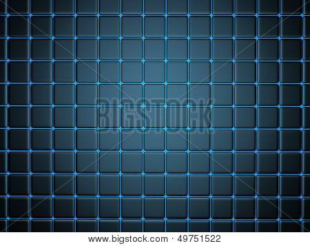 poster of abstract background with smoothed plates 3d illustration