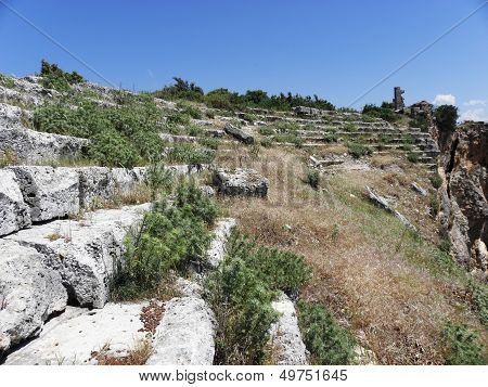 Remaining rows of the amphitheater in Silion