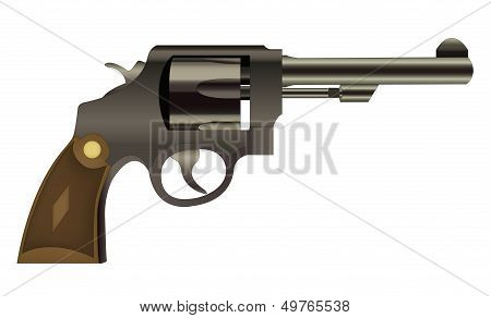 Vector Handgun Isolated On A White Background