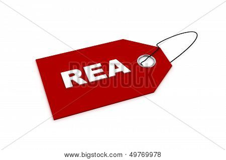 Price Tag With The Word Rea
