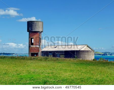 Auckland, New Zealand - Circa 2011 - Historic Water Tower On Motuihe Island