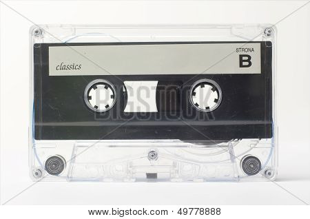 retro old audio cassette