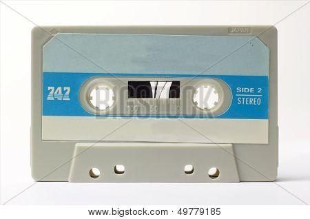 retro old audio cassette