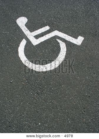 Disabled Sign On Road