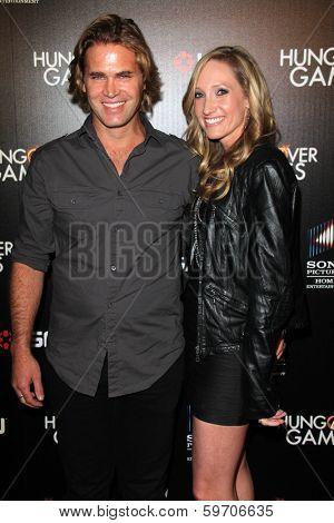 LOS ANGELES - FEB 11:  Matt Flanagan, Tara Smith at the