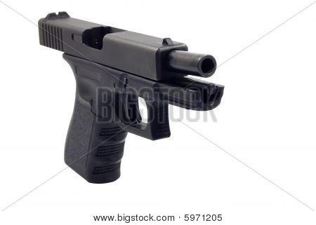 Gun on white background isolated