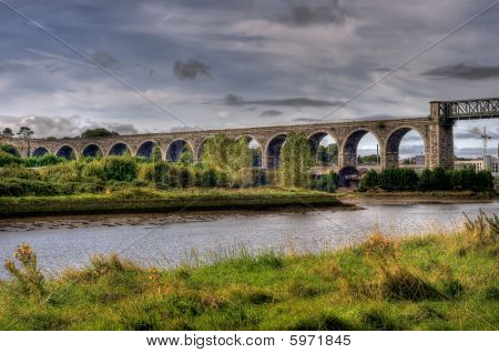 Viaduct Crossing River