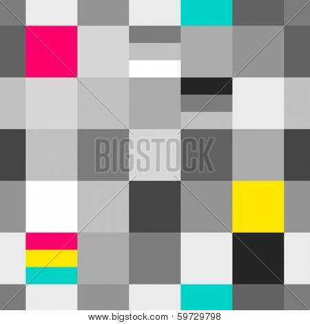 CMYK and grayscale printing colors seamless pattern