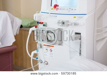 Cropped image of advanced dialysis machine in hospital