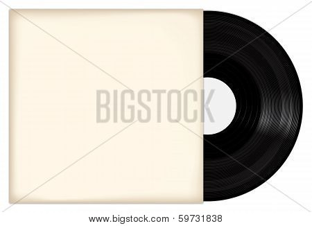 Vinyl Record With White Cover