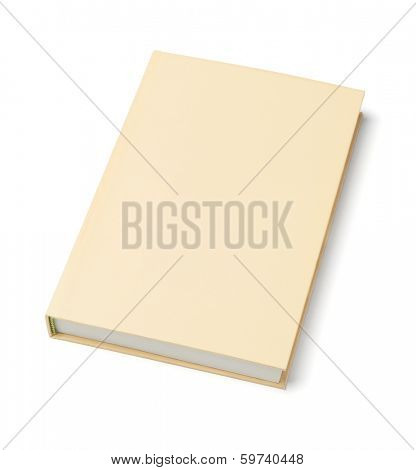 Hard Cover Book On White Background