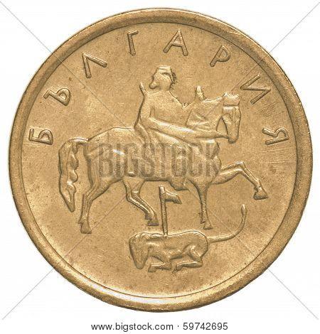One Bulgarian Stotinki Coin